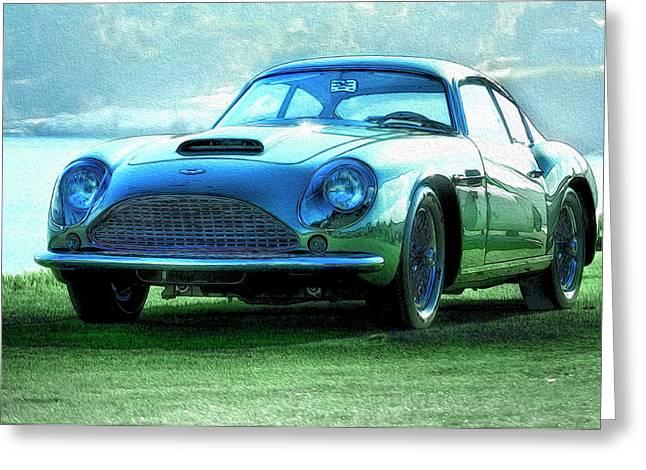 Aston Martin Db4 Zagato Greeting Card by Duschan Tomic