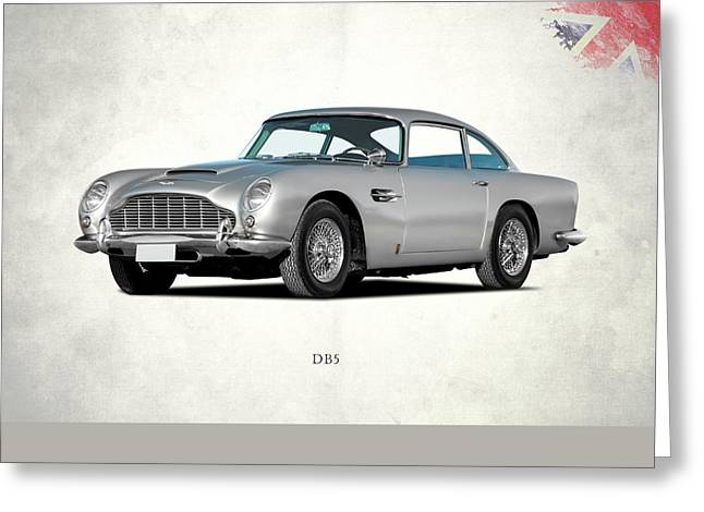 Aston Martin Db5 Greeting Card by Mark Rogan