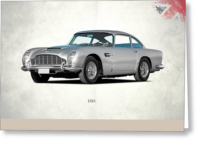 Car Greeting Cards - Aston Martin DB5 Greeting Card by Mark Rogan