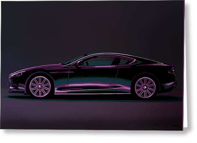Aston Martin Dbs V12 2007 Painting Greeting Card by Paul Meijering