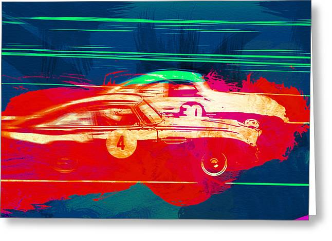 European Photographs Greeting Cards - Aston Martin vs Porsche Greeting Card by Naxart Studio