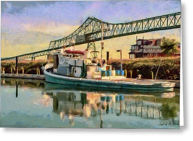 Astoria Waterfront, Scene 1 Greeting Card by Jeff Kolker