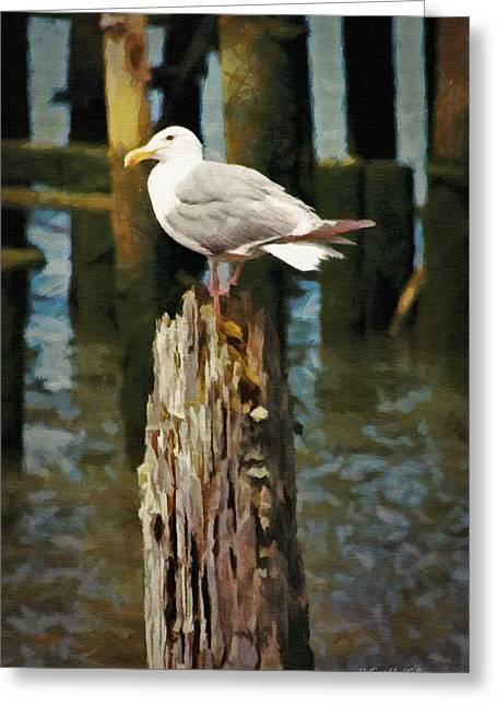 Astoria Waterfront, Scene 2 - Post Posing Greeting Card by Jeff Kolker
