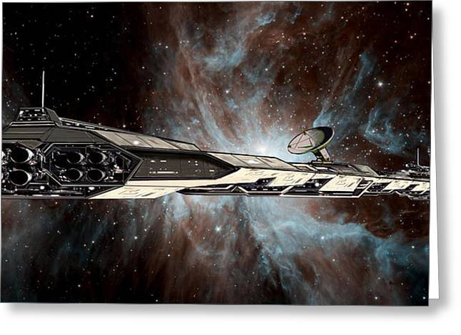 Science Fiction Art Greeting Cards - Astra Crossing Greeting Card by Bill Wright