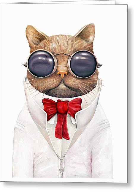 Astro Cat Greeting Card by Animal Crew
