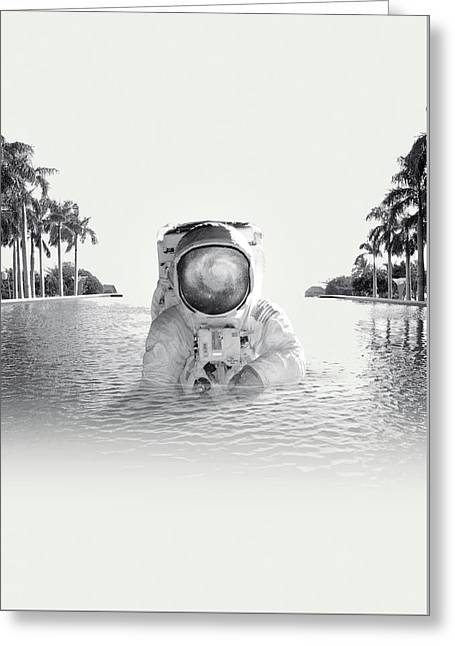 Astronaut Greeting Card by Fran Rodriguez