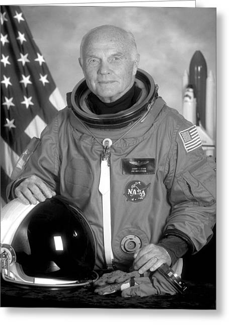 Astronaut John Glenn Greeting Card by War Is Hell Store