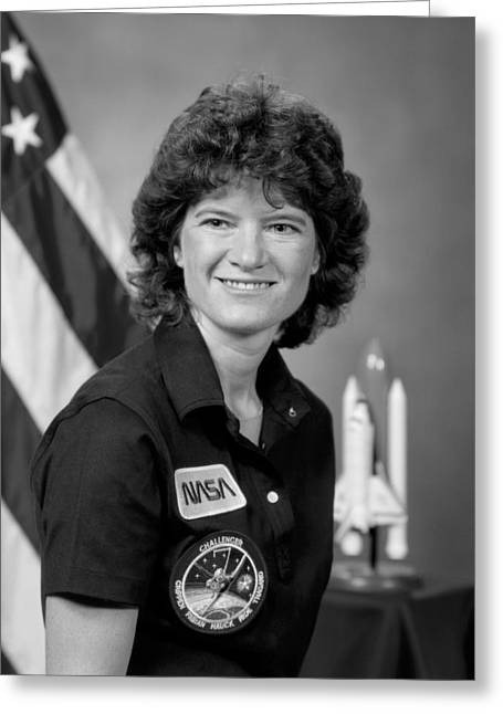 Astronaut Sally Ride  Greeting Card by War Is Hell Store