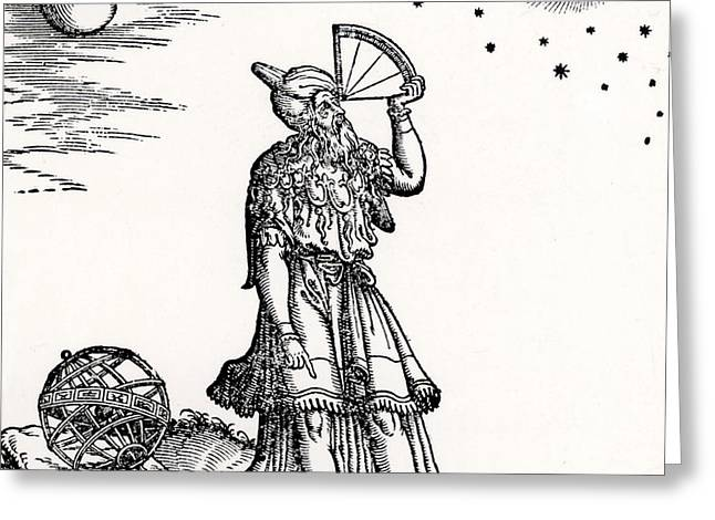 Astronomer, Probably Ptolemy Of Alexandria Greeting Card by Venetian School