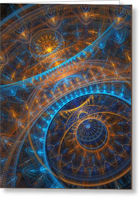 Cog Greeting Cards - Astronomical clock Greeting Card by Martin Capek