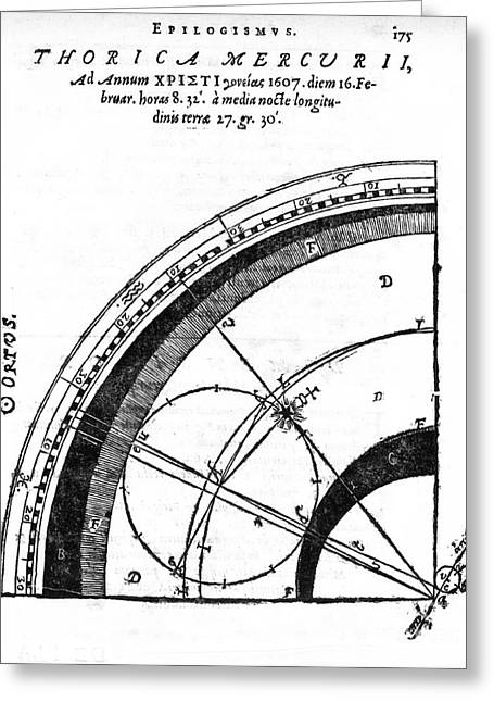 Explanation Greeting Cards - Astronomical Diagram, 17th Century Greeting Card by Middle Temple Library