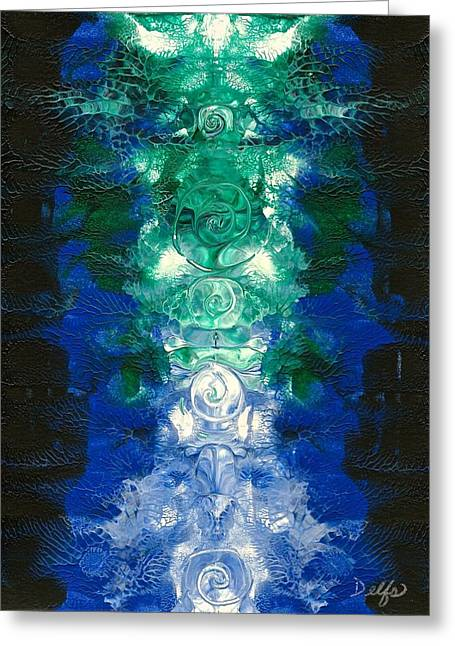 Recently Sold -  - Abstract Forms Greeting Cards - Asymmetrical Spirals Greeting Card by Jenn Delfs