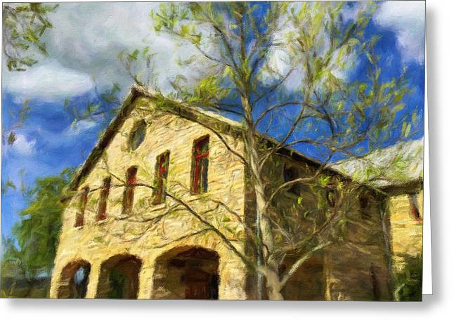 Harvest Art Greeting Cards - At A Winery Greeting Card by Jonathan Nguyen