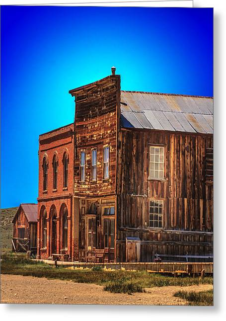 Wooden Building Greeting Cards - At Bodie Western Ghost Town Greeting Card by Felipe Sanchez