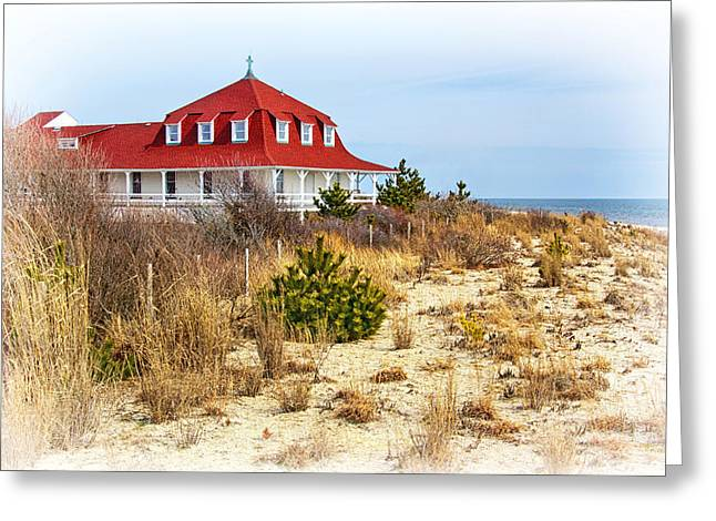 Buildings By The Ocean Photographs Greeting Cards - At Cape May Point Greeting Card by Carolyn Derstine