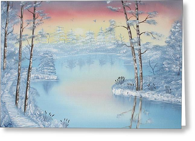 Best Sellers -  - Bob Ross Paintings Greeting Cards - At Dawns Light  Greeting Card by Kimber  Butler