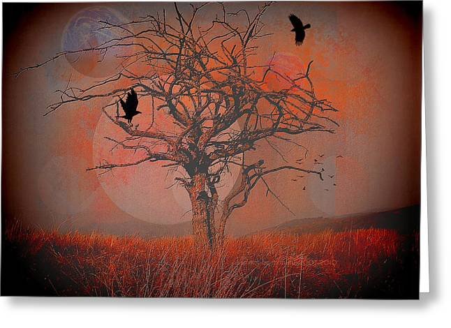 Subconscious Digital Art Greeting Cards - at Dusk Greeting Card by Mimulux patricia no
