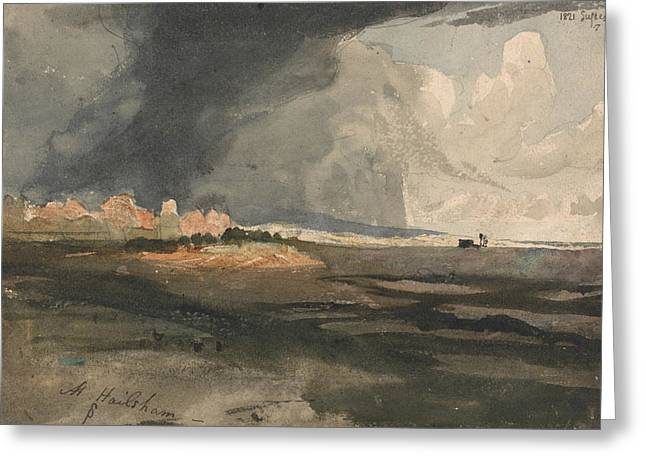 At Hailsham, Sussex - A Storm Approaching Greeting Card by Samuel Palmer