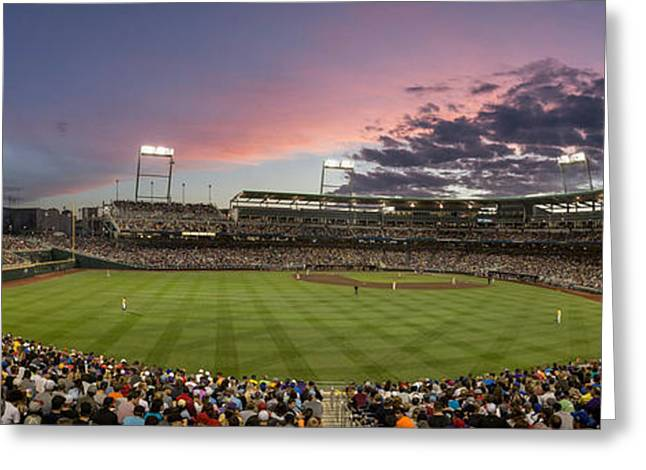 Baseball Stadiums Greeting Cards - At Home Greeting Card by Tim Perry
