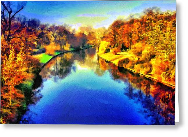 Jogging Greeting Cards - At Landwehr Canal Greeting Card by Ralph van Och