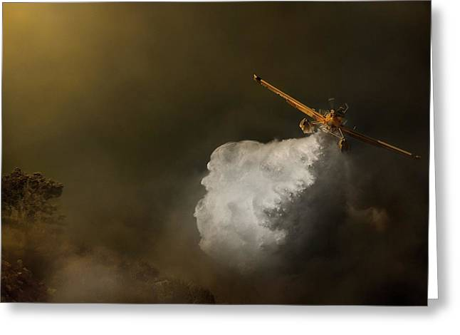 Aviation Greeting Cards - At Maximum Power Greeting Card by Antonio Grambone