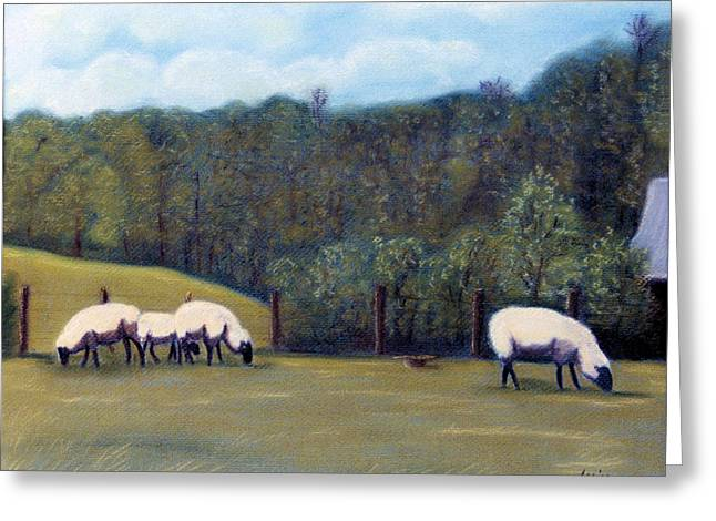 Tennessee Pastels Greeting Cards - At Pasture Greeting Card by Jan Amiss