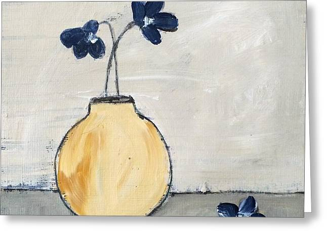 Interior Still Life Mixed Media Greeting Cards - At Peace Greeting Card by Judy Jacobs