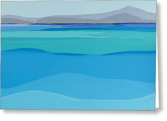 Sea View Greeting Cards - At Peace Greeting Card by Sarah Gillard