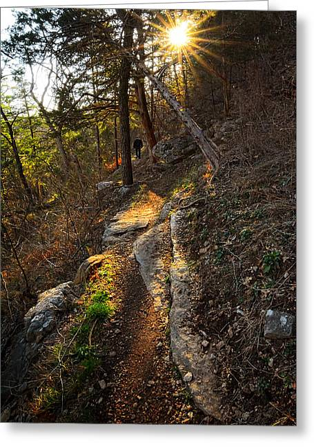At Peace With Yourself - Bella Vista Arkansas Greeting Card by Lourry Legarde