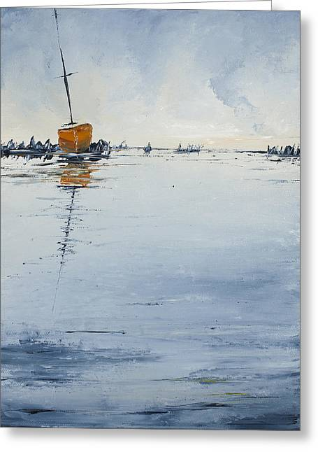 Ocean Sailing Greeting Cards - At Rest Greeting Card by Carolyn Doe