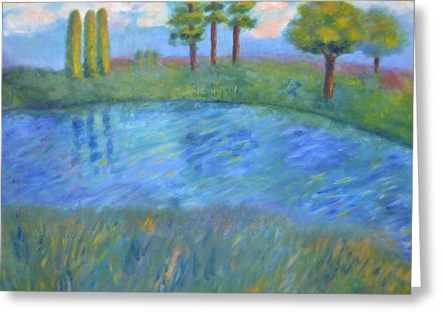 Faa Featured Paintings Greeting Cards - At Rivers Edge Greeting Card by Marla McPherson