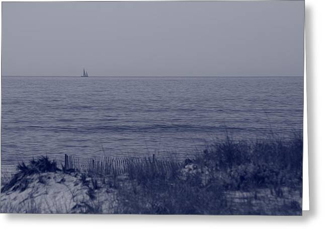 Sailboat Ocean Greeting Cards - At Sea Greeting Card by Christopher Kirby