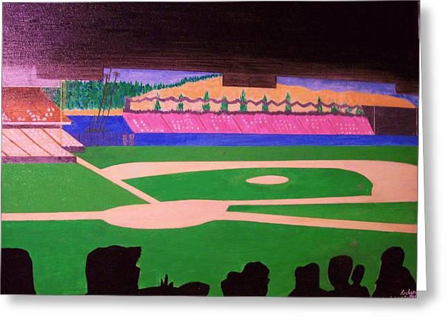 At The Ballpark Greeting Card by Richard Gaytan