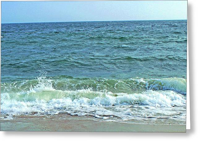 New England Ocean Greeting Cards - At the Beach Greeting Card by Images by Stephanie