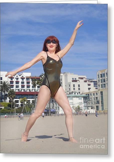 At The Beach Greeting Card by Sofia Goldberg