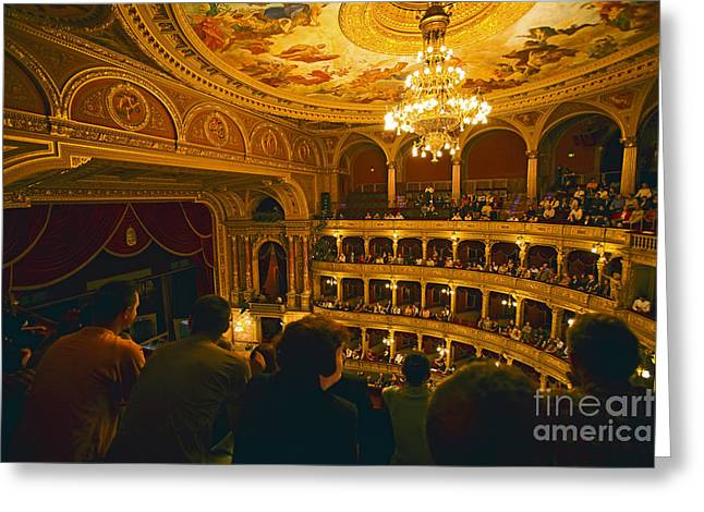 Madeline Ellis Greeting Cards - At The Budapest Opera House Greeting Card by Madeline Ellis