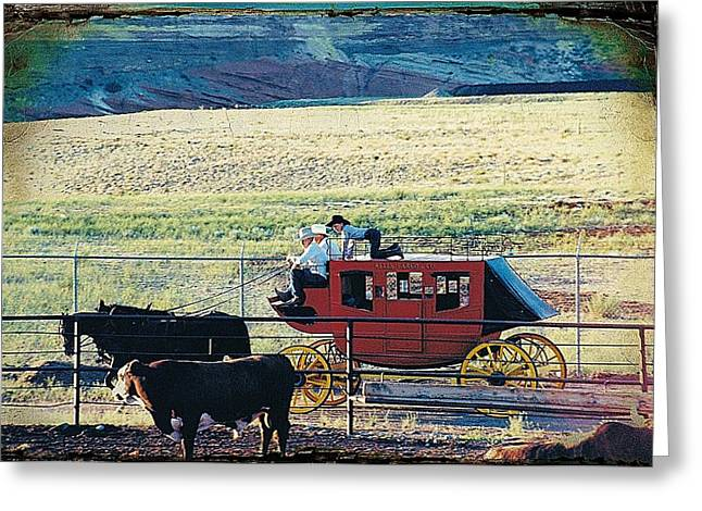 At The Cody Rodeo Greeting Card by Jan Amiss Photography