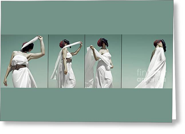 Cloth Greeting Cards - At the Desert Greeting Card by Alexander Baranov