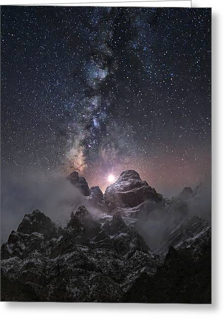 Cold Night Greeting Cards - At The Edge Of The World Greeting Card by Chriskaddas