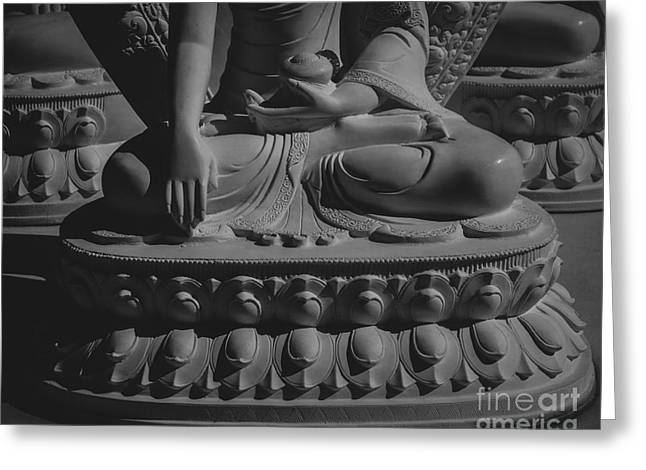 Religion Greeting Cards - At the Feet of the Buddha Greeting Card by Jamie Tipton