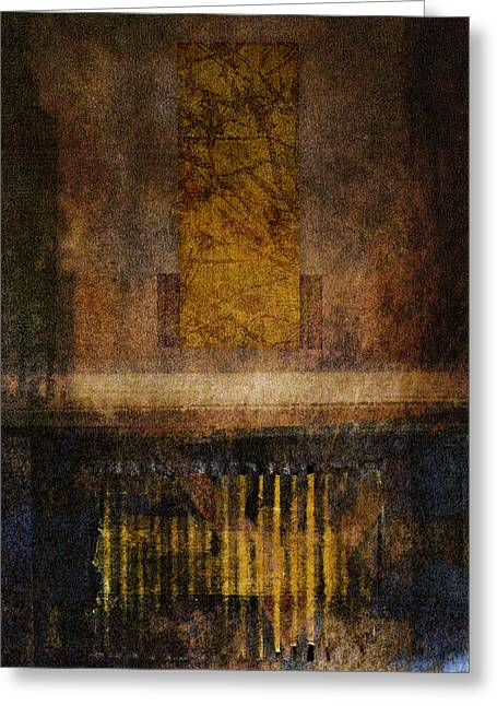 Torn Greeting Cards - At the Gate Photomontage Greeting Card by Carol Leigh