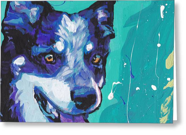 Heeler Greeting Cards - At the Heel Greeting Card by Lea
