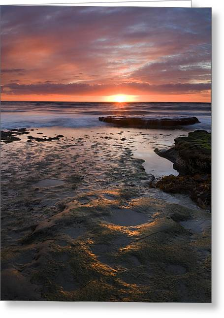 Sunset Seascape Greeting Cards - At the Horizon Greeting Card by Mike  Dawson