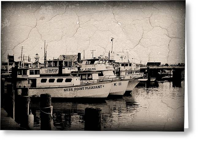 Point Pleasant Greeting Cards - At The Marina - Jersey Shore Greeting Card by Angie Tirado