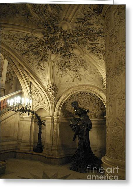 Bastille Digital Greeting Cards - At the Opera Greeting Card by Louise Fahy