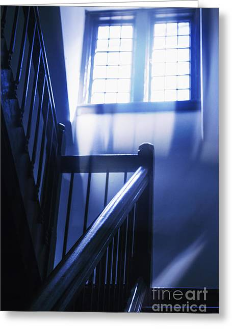 At The Top Of The Stairs Greeting Card by Margie Hurwich