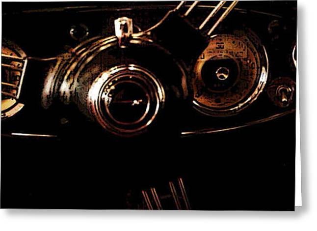 Steering Greeting Cards - At the Wheel Greeting Card by Erika Brown