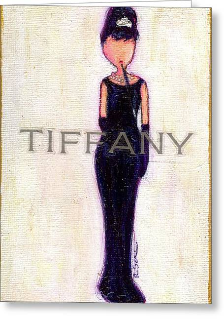 At Tiffany's Greeting Card by Ricky Sencion
