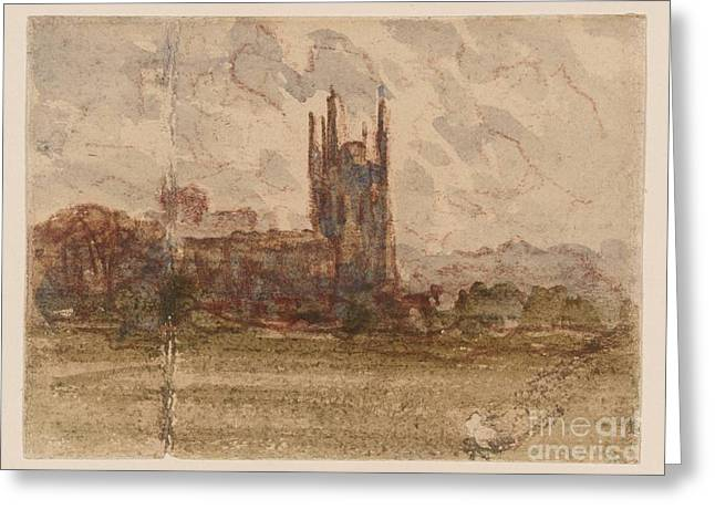 at Wrexham Greeting Card by David Cox