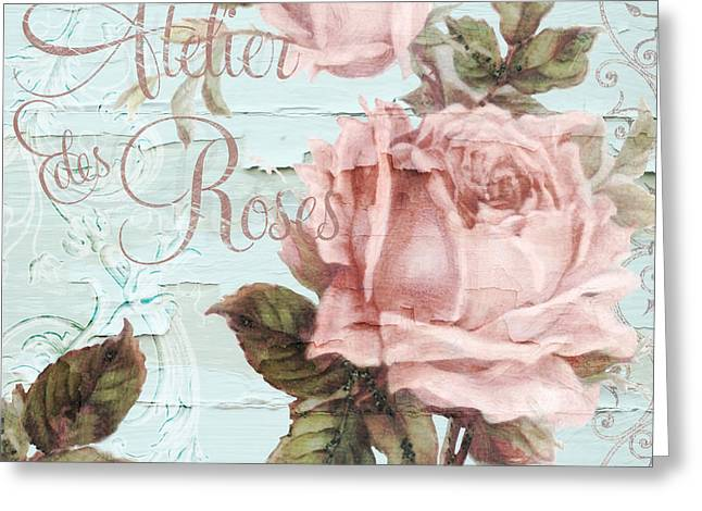 Tea Rose Greeting Cards - Atelier des Roses Greeting Card by Mindy Sommers